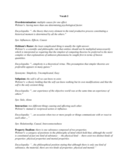 PHIL-UA 1 Lecture Notes - Lecture 2: Overdetermination, Monism, Materialism