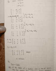 MATH 211 Lecture 3: Homogeneous Systems, Linear Combinations and Rank