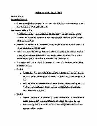 Psychology 3720F/G Study Guide - Winter 2016, Midterm