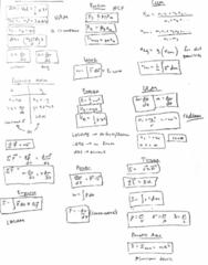 PHY 11 Midterm: Formula Sheet