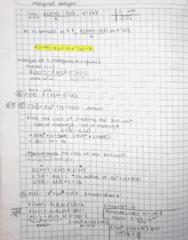 MAC 2233 Lecture 7: marginal analysis