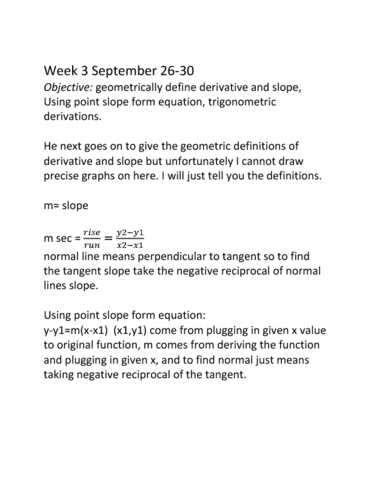 Math 275 Lecture 9 Yousry Elsabroutys Notes Week 3 Day 1 To And