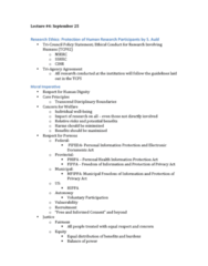 MGMT 4000 Lecture Notes - Lecture 4: Health Insurance Portability And Accountability Act, Research Question, Natural Sciences And Engineering Research Council