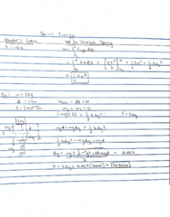 PHY 11 Lecture 12: Spring Energy