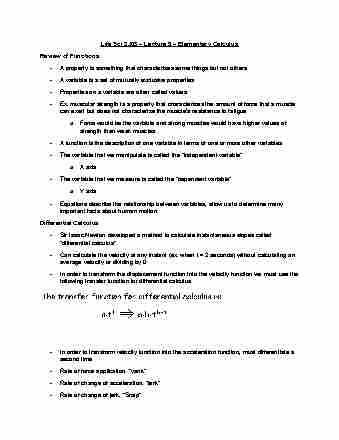 lifesci-3j03-lecture-9-elementary-calculus