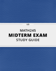 [MATH245] - Midterm Exam Guide - Ultimate 48 pages long Study Guide!