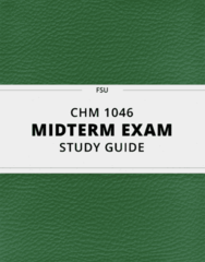 [CHM 1046] - Midterm Exam Guide - Everything you need to know! (23 pages long)