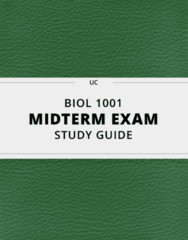 [BIOL 1001] - Midterm Exam Guide - Everything you need to know! (17 pages long)