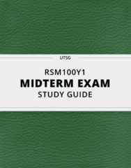 [RSM100Y1] - Midterm Exam Guide - Ultimate 22 pages long Study Guide!
