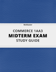 COMMERCE 1AA3 Study Guide - Comprehensive Midterm Guide: 2 On, Faithful Representation, A Question Of Balance