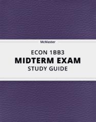 ECON 1BB3 Study Guide - Comprehensive Midterm Guide: Aggregate Demand, Sole Proprietorship, Marginal Cost