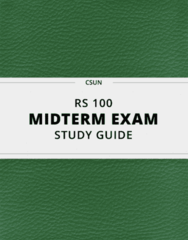RS 100 Study Guide - Comprehensive Midterm Guide: Deism, Pietism, Snapple