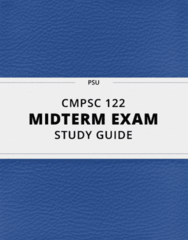 [CMPSC 122] - Midterm Exam Guide - Everything you need to know! (24 pages long)