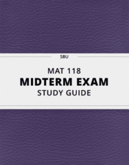 [MAT 118] - Midterm Exam Guide - Comprehensive Notes for the exam (27 pages long!)