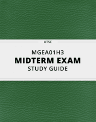 [MGEA01H3] - Midterm Exam Guide - Ultimate 33 pages long Study Guide!