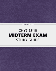 [CHYS 2P10] - Midterm Exam Guide - Ultimate 27 pages long Study Guide!
