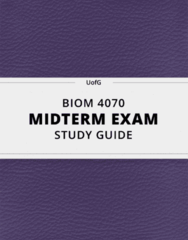 [BIOM 4070] - Midterm Exam Guide - Ultimate 14 pages long Study Guide!