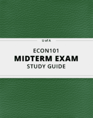[ECON101] - Midterm Exam Guide - Ultimate 22 pages long Study Guide!