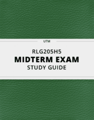 [RLG205H5] - Midterm Exam Guide - Everything you need to know! (24 pages long)