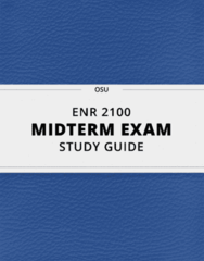 [ENR 2100] - Midterm Exam Guide - Everything you need to know! (16 pages long)