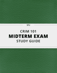 CRIM 101 Study Guide - Comprehensive Midterm Guide: Atavism, Y Chromosome, Psychological Reports