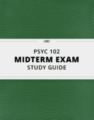 PSYC 102 Study Guide - Comprehensive Midterm Guide: Dietary Supplement, Serotonin Transporter, Object Permanence