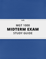 MGT 1000 Study Guide - Comprehensive Midterm Guide: Contingency Management, Hawthorne Effect, Henri Fayol