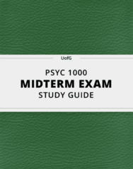 [PSYC 1000] - Midterm Exam Guide - Ultimate 36 pages long Study Guide!