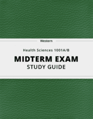[Health Sciences 1001A/B] - Midterm Exam Guide - Comprehensive Notes for the exam (123 pages long!)