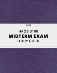 HROB 3100 Study Guide - Comprehensive Midterm Guide: Progressive Muscle Relaxation, Extraversion And Introversion, Frame Problem