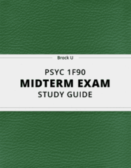 PSYC 1F90 Study Guide - Comprehensive Midterm Guide: Intersubjectivity, Automaticity, Psychophysics