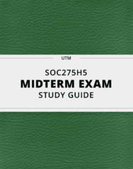 SOC275H5 Study Guide - Comprehensive Midterm Guide: Hermaphrodite, Matrilocal Residence, Intersectionality