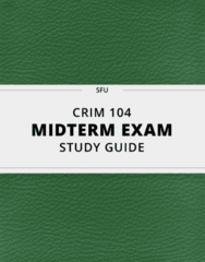 [CRIM 104] - Midterm Exam Guide - Everything you need to know! (71 pages long)
