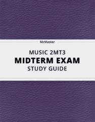 [MUSIC 2MT3] - Midterm Exam Guide - Everything you need to know! (26 pages long)