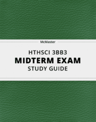 [HTHSCI 3BB3] - Midterm Exam Guide - Everything you need to know! (26 pages long)