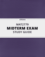 [MAT2779] - Midterm Exam Guide - Everything you need to know! (24 pages long)