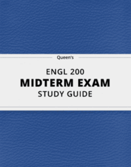 [ENGL 200] - Midterm Exam Guide - Comprehensive Notes for the exam (15 pages long!)