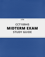 [CCT109H5] - Midterm Exam Guide - Ultimate 18 pages long Study Guide!