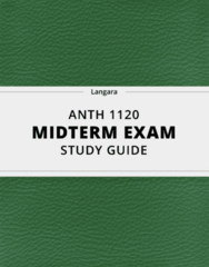 [ANTH 1120] - Midterm Exam Guide - Comprehensive Notes for the exam (17 pages long!)