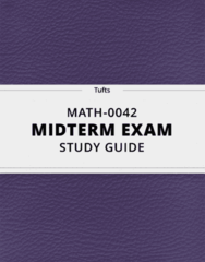 [MATH-0042] - Midterm Exam Guide - Everything you need to know! (14 pages long)