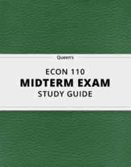 [ECON 110] - Midterm Exam Guide - Ultimate 13 pages long Study Guide!