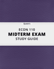 ECON 110 Study Guide - Comprehensive Midterm Guide: Planned Economy, Mixed Economy, Market Economy
