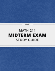 [MATH 211] - Midterm Exam Guide - Everything you need to know! (16 pages long)