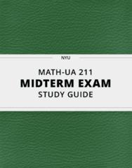 [MATH-UA 211] - Midterm Exam Guide - Comprehensive Notes for the exam (27 pages long!)