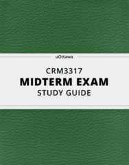 [CRM3317] - Midterm Exam Guide - Ultimate 18 pages long Study Guide!