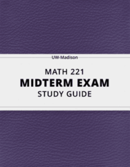 [MATH 221] - Midterm Exam Guide - Everything you need to know! (23 pages long)