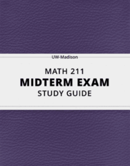 [MATH 211] - Midterm Exam Guide - Ultimate 15 pages long Study Guide!