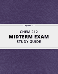 [CHEM 212] - Midterm Exam Guide - Ultimate 21 pages long Study Guide!