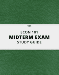 ECON 101 Study Guide - Comprehensive Midterm Guide: Marginal Utility, Marginal Cost, Opportunity Cost