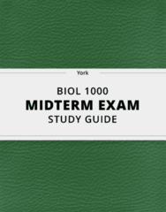 [BIOL 1000] - Midterm Exam Guide - Comprehensive Notes for the exam (21 pages long!)